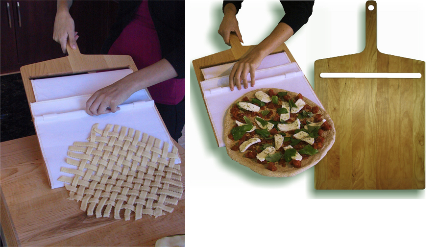 image showing the Super Peel to make pizza and lattice pie crusts